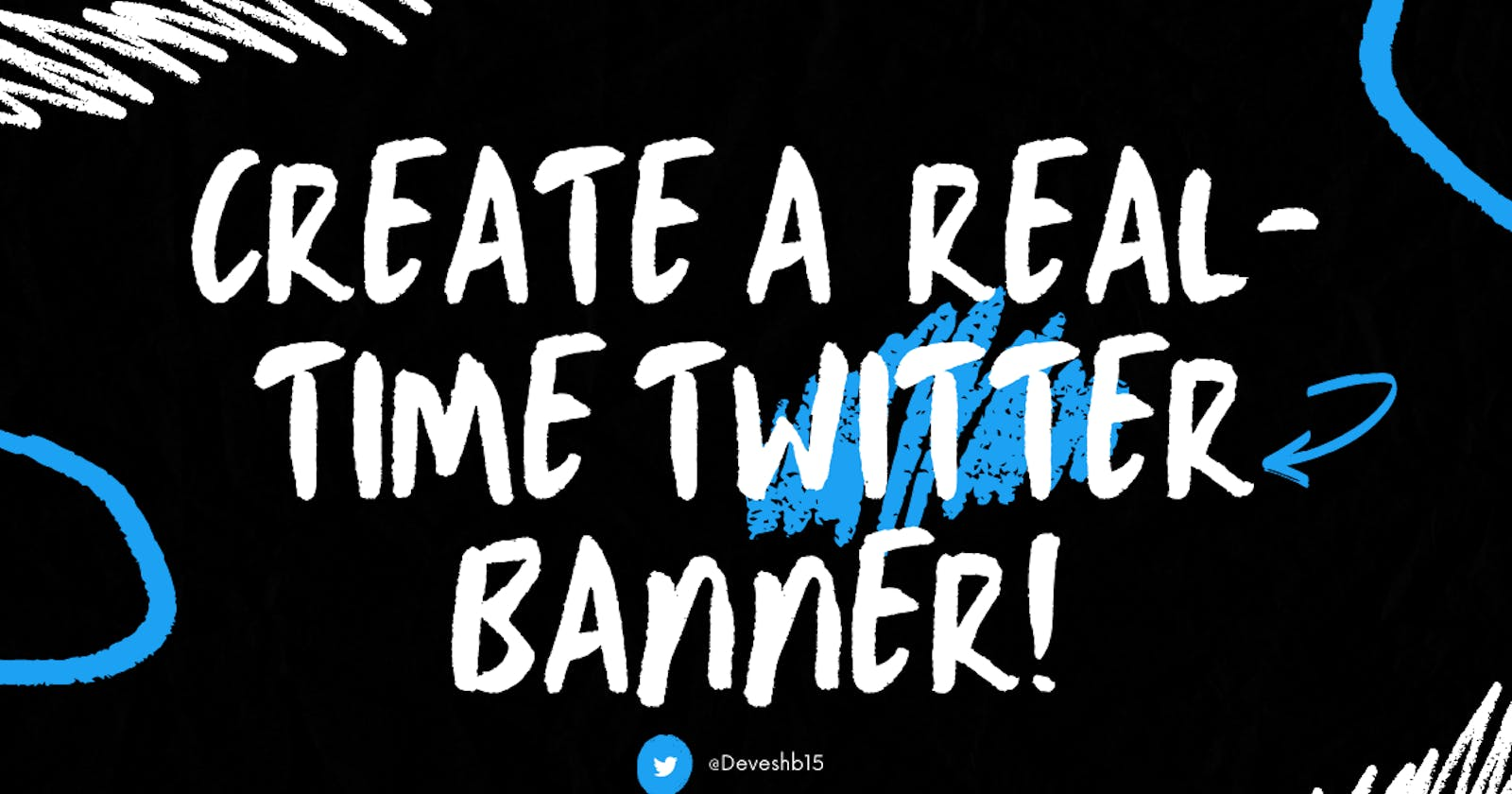 Create a real-time Twitter banner!