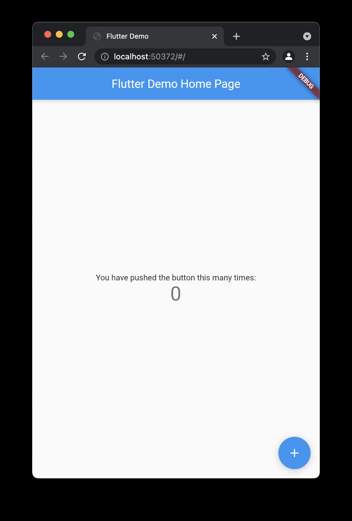 Flutter basic app
