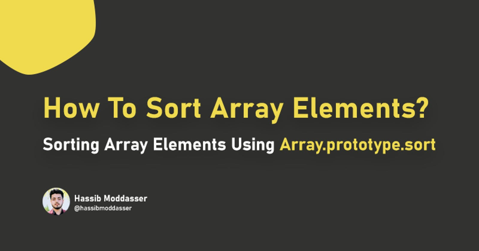 How To Sort Array Elements?