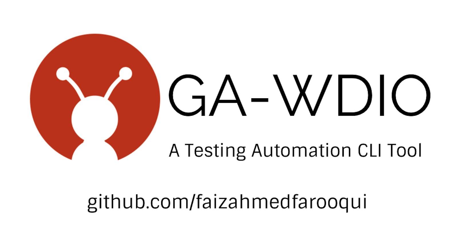 GA-WDIO: Automation Tool