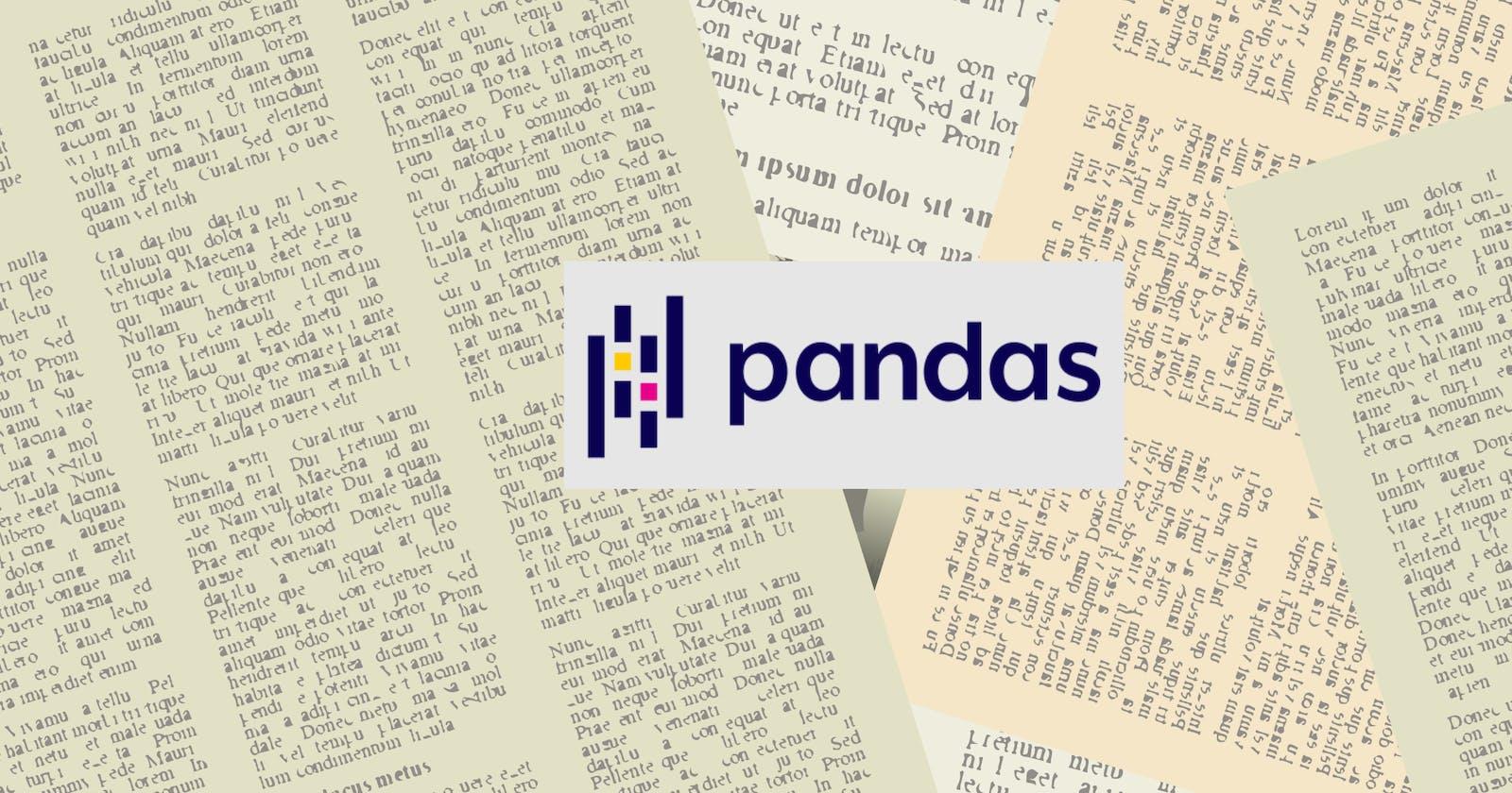 Handling text data with Pandas