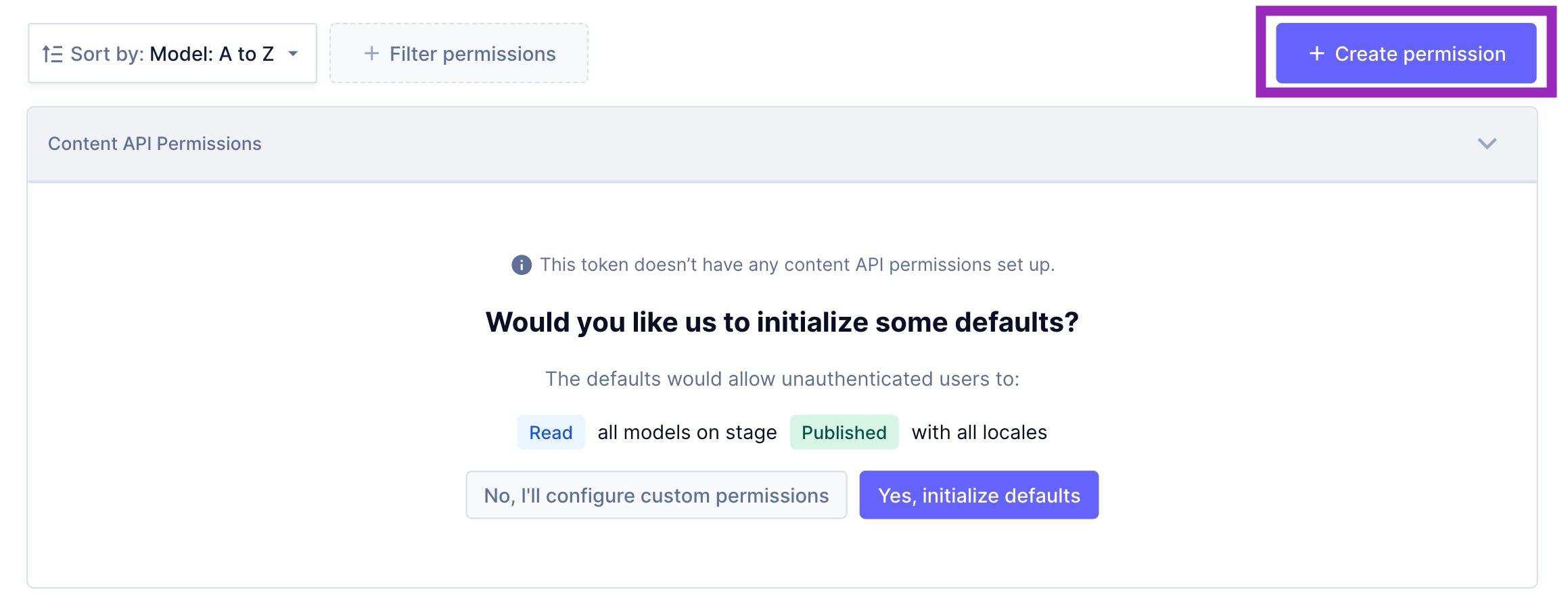 GraphCMS Content API permissions
