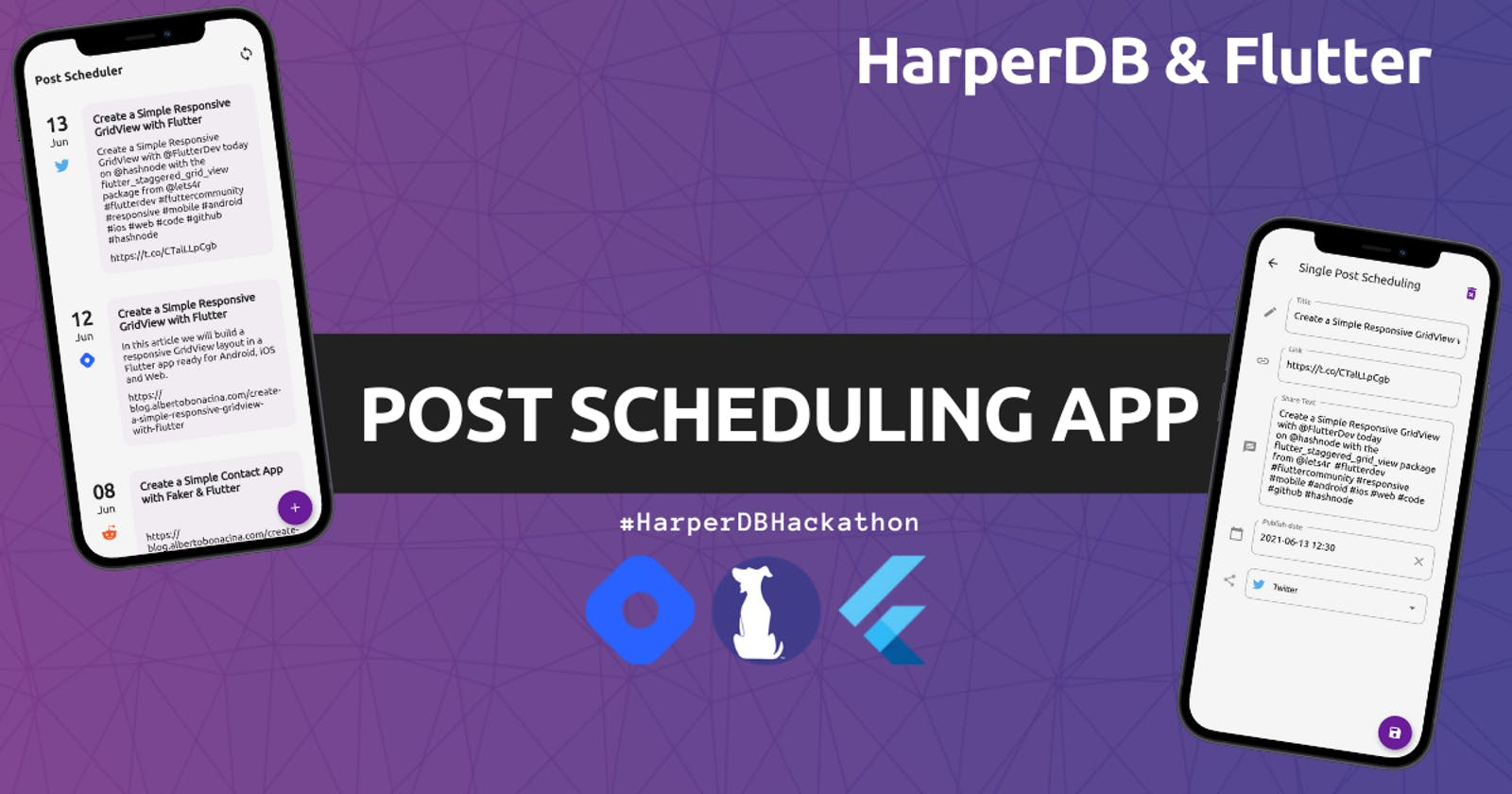 Building a Post Scheduling App with HarperDB & Flutter