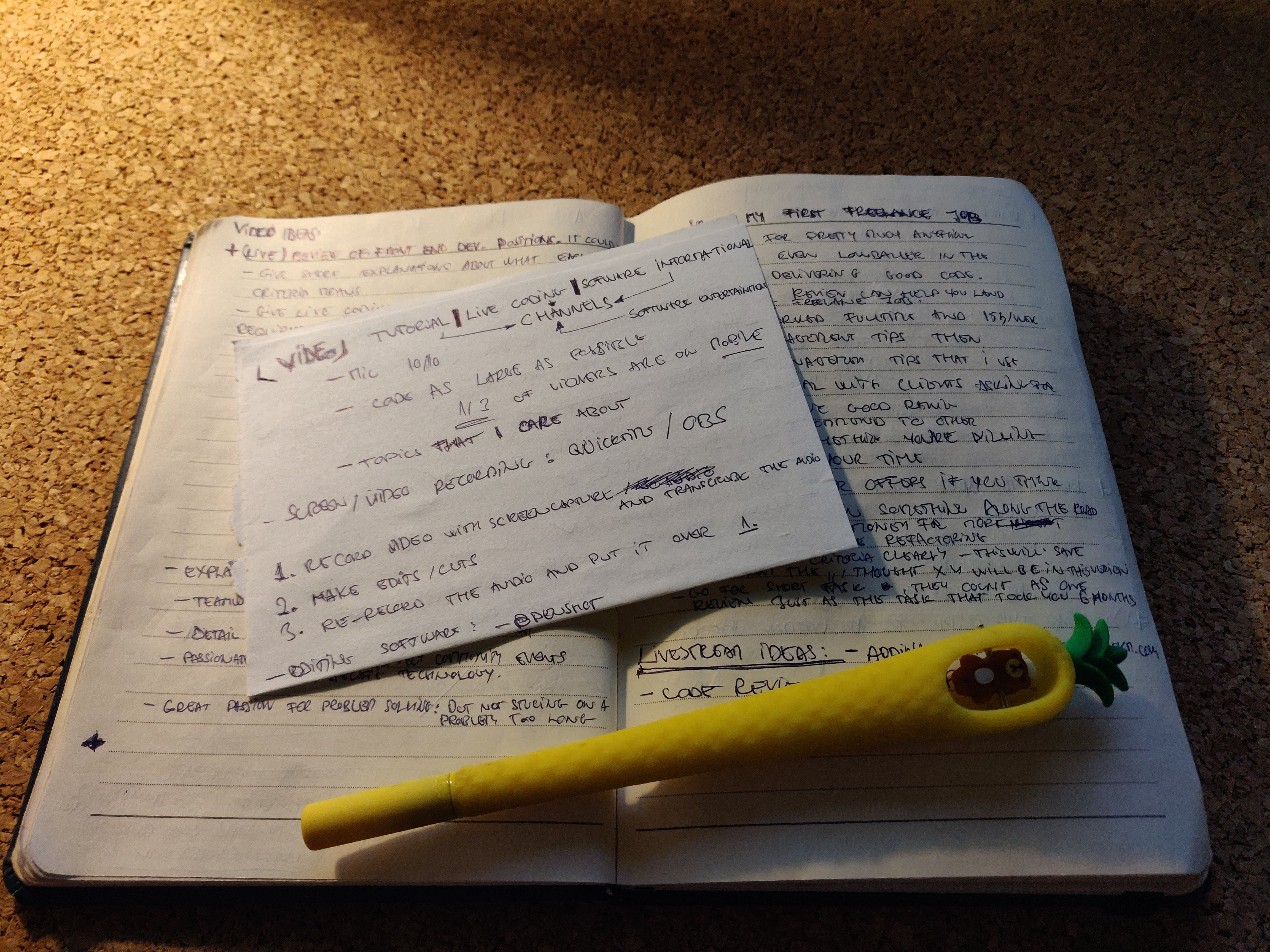 a picture of my notebook