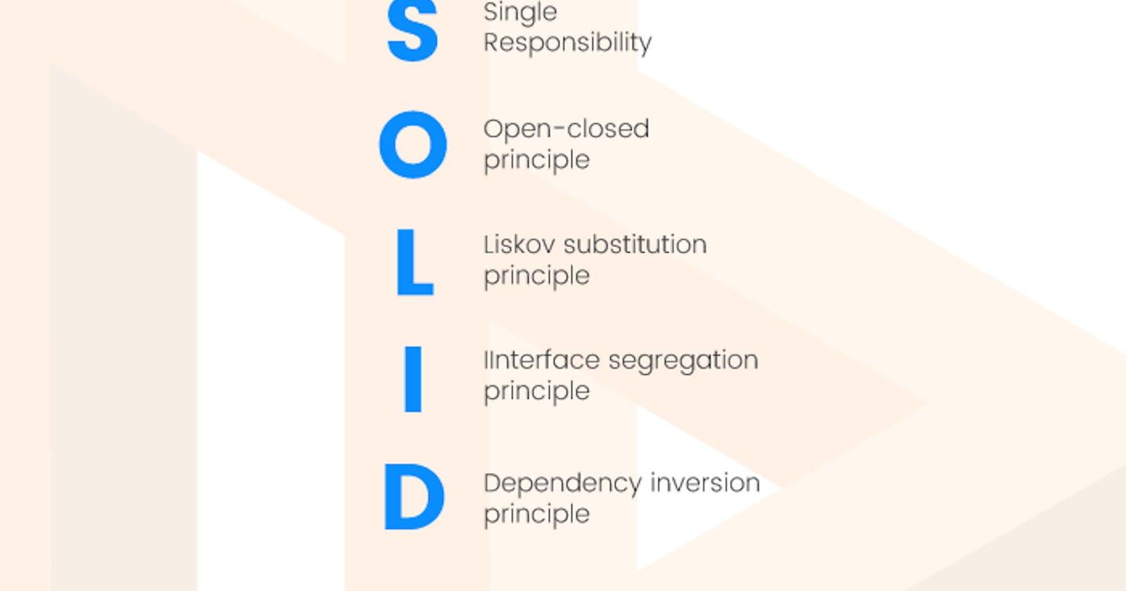 S.O.L.I.D Principles in OO programming