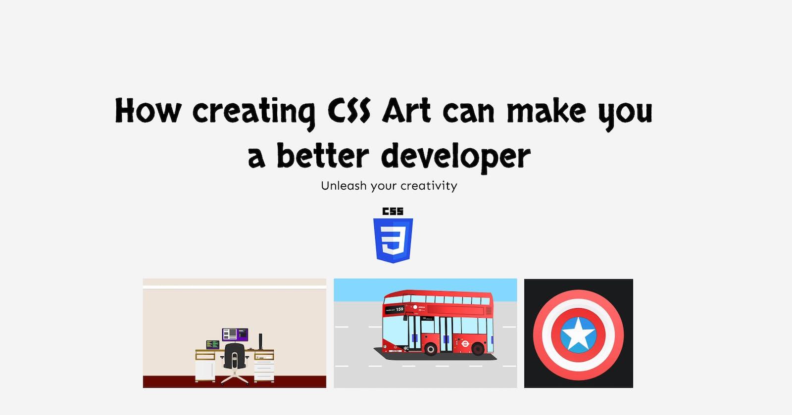 How creating CSS Art can make you a better developer