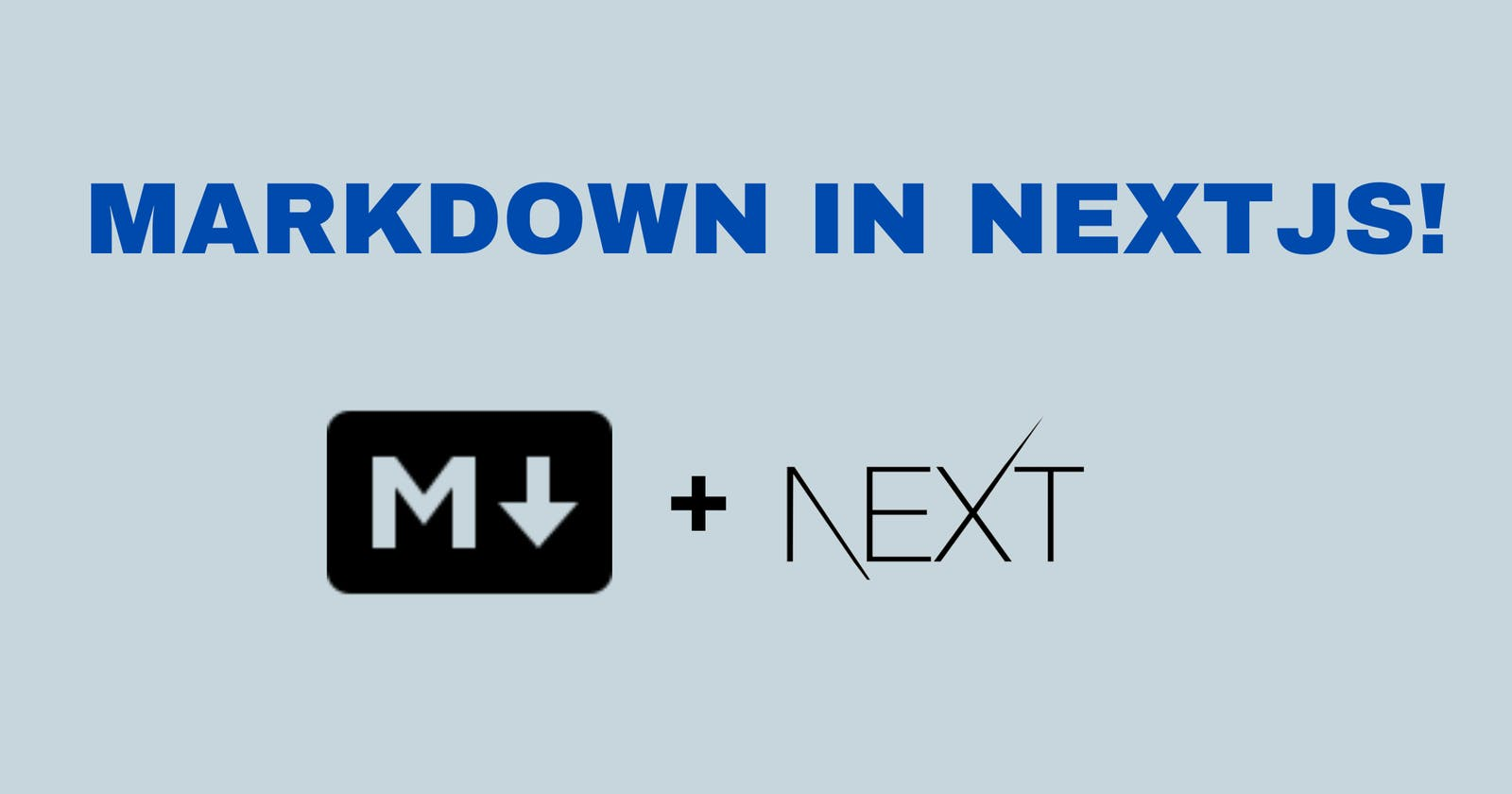 The easiest way to write Markdown in NextJS!!