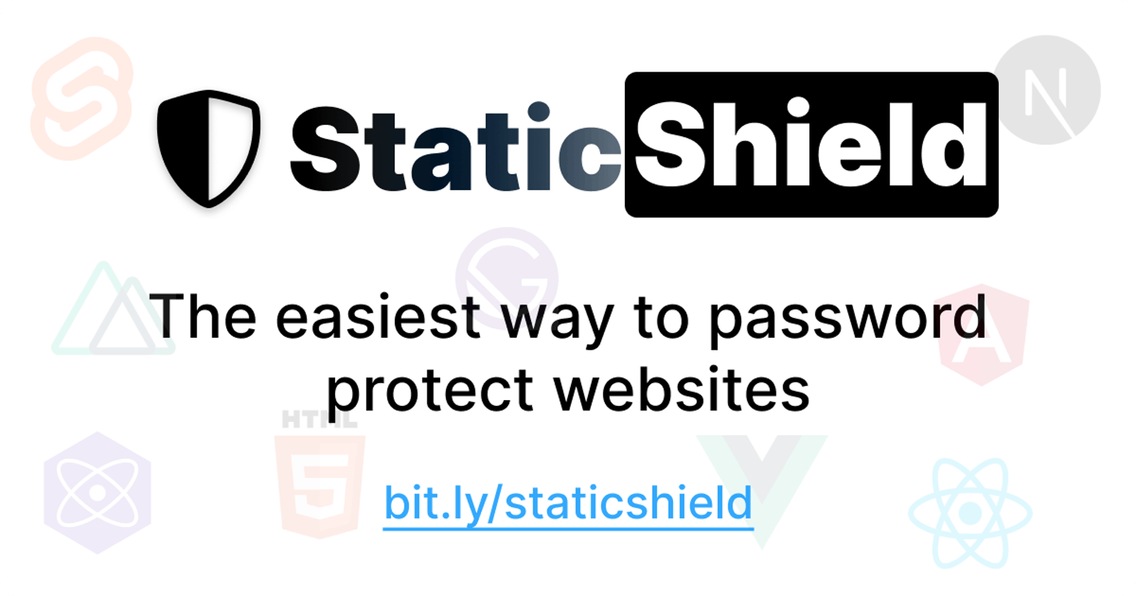 Introducing StaticShield🛡: Password protect a website in less than 2 mins.