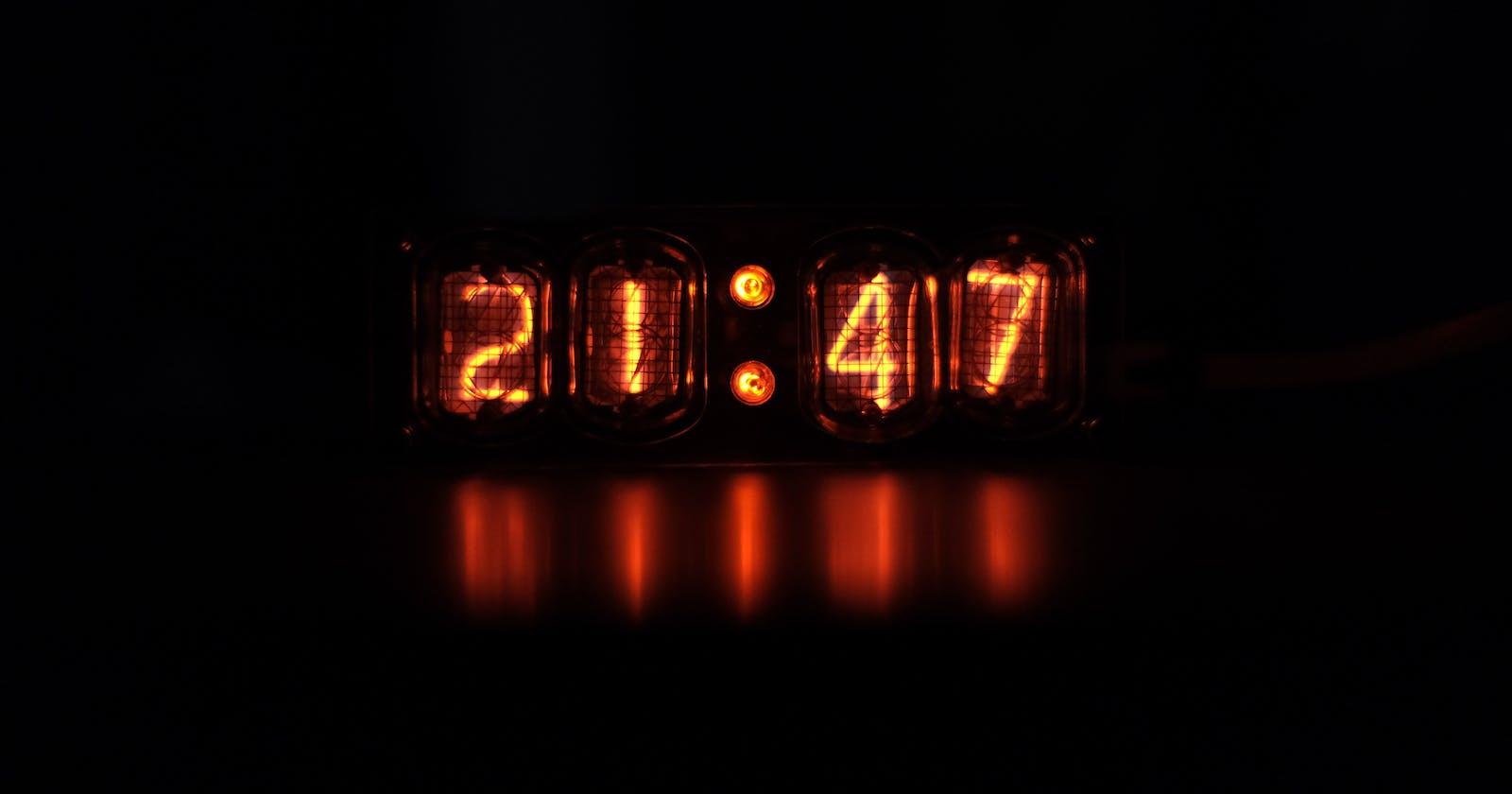 Show a digital clock in Tmux