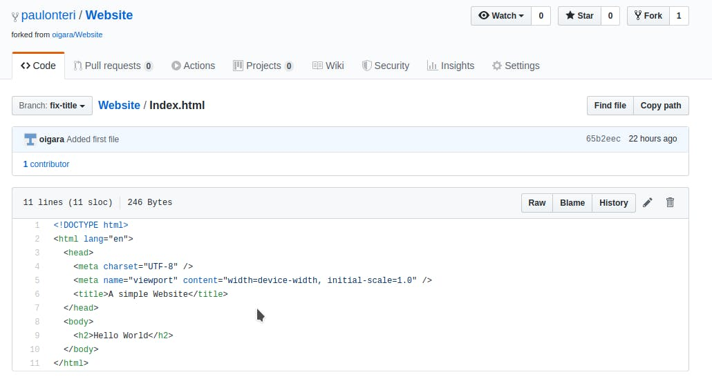 Repository content on my GitHub