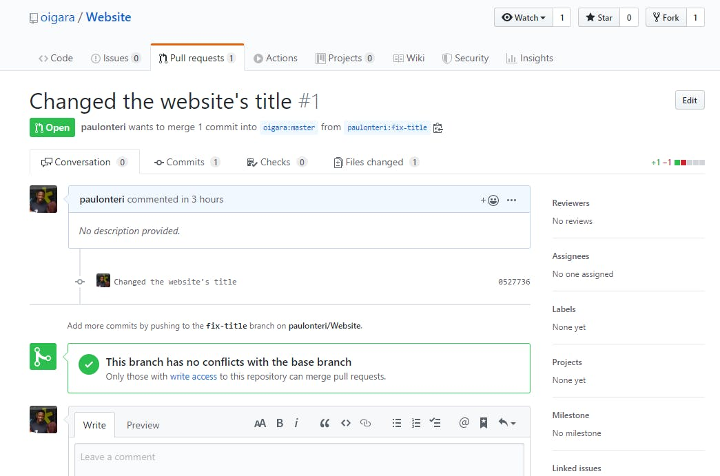 Pull request Created