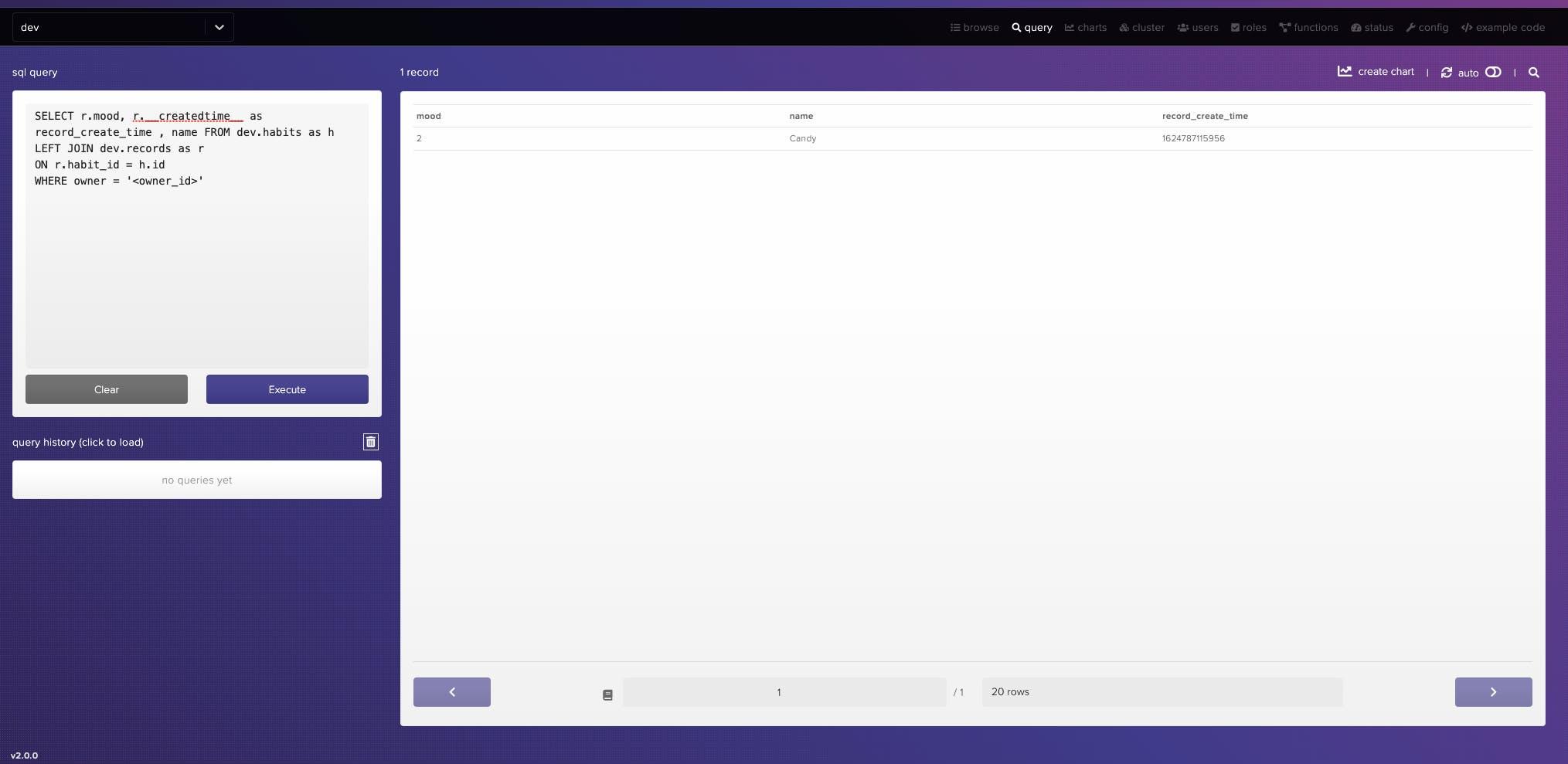 Screenshot - HarperDB Studio