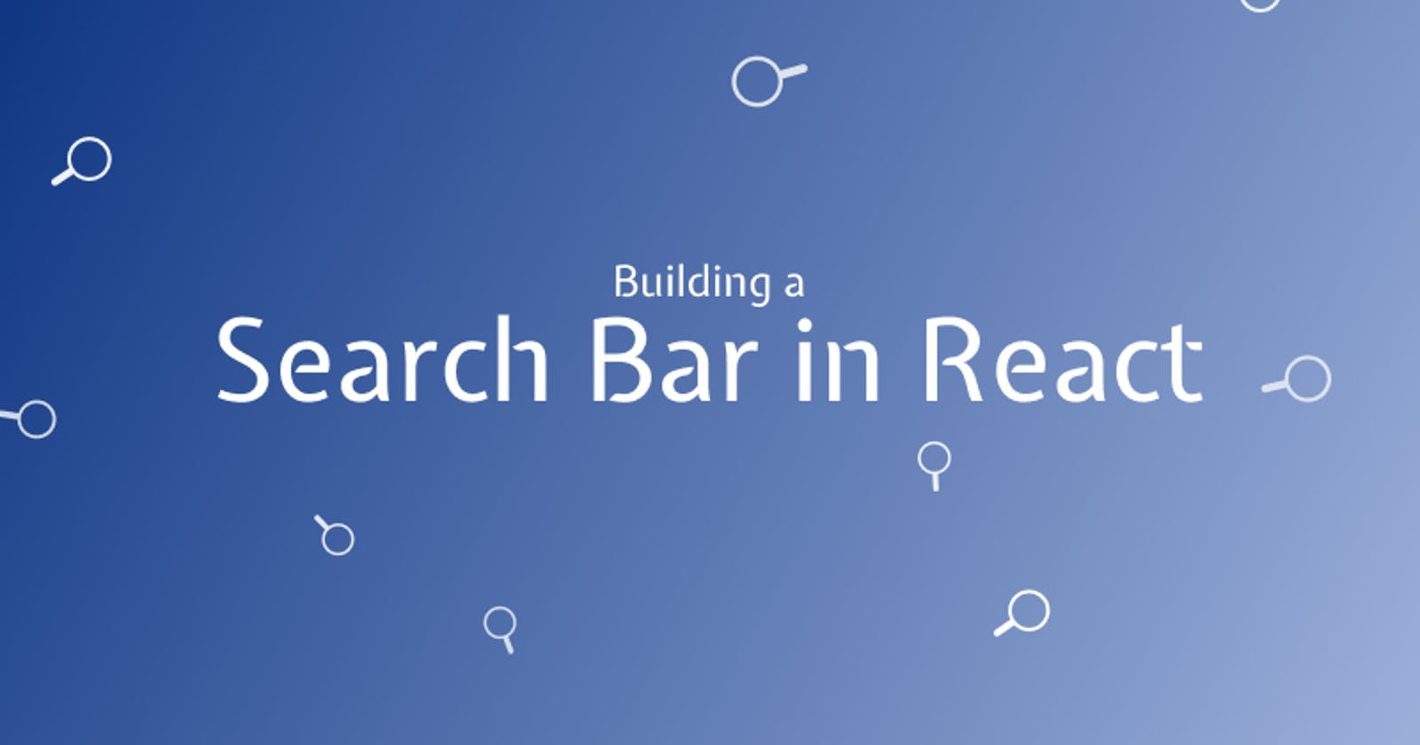 Building a React Autocomplete Search Bar