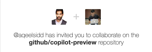 vinitshahdeo invitation to try out Copilot
