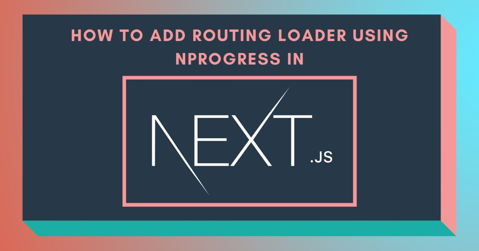 💫 How to add routing loader using nprogress in Next.js?
