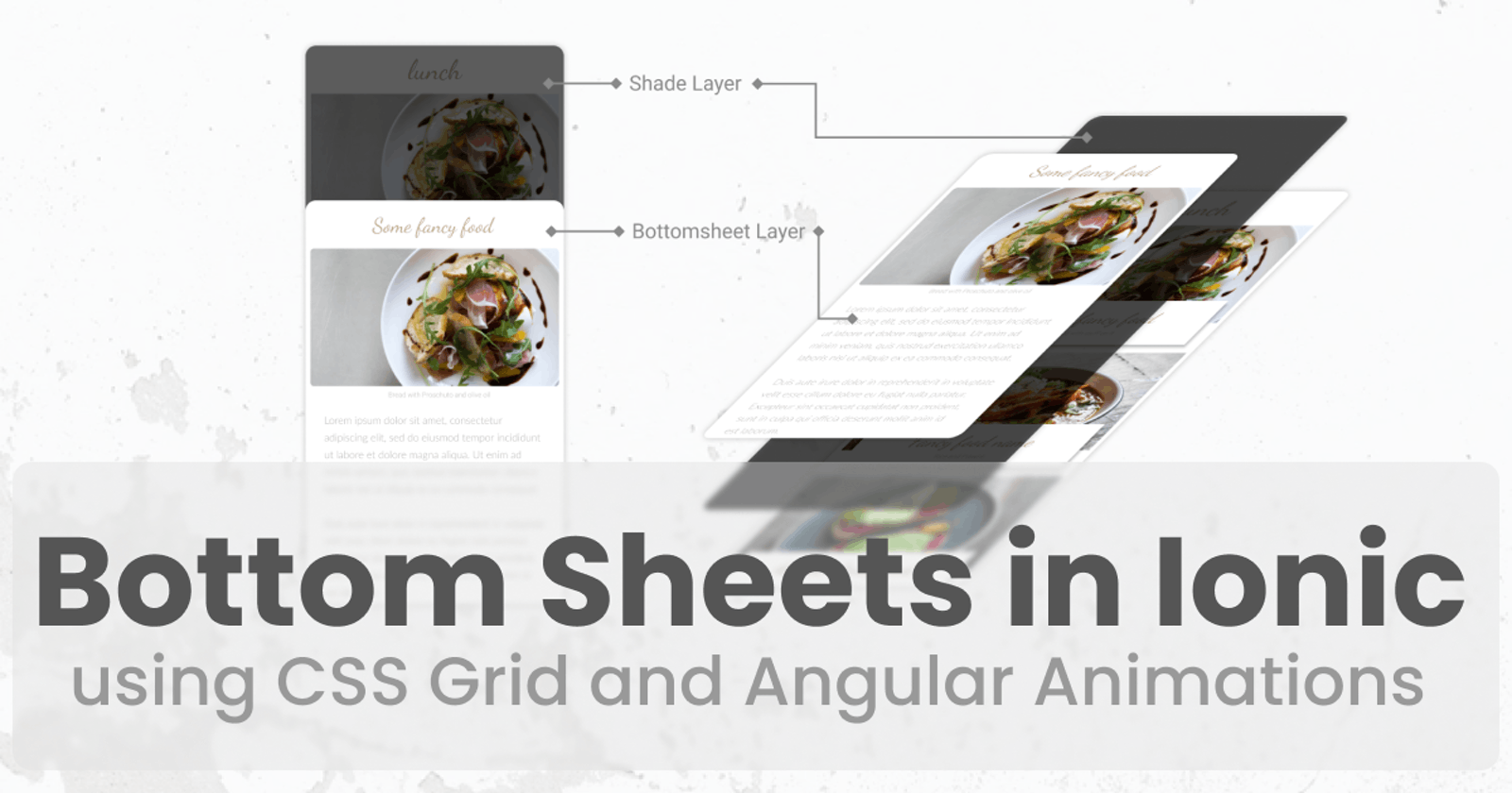 Create Custom Bottom Sheets in Ionic using CSS Grid and Angular Animations