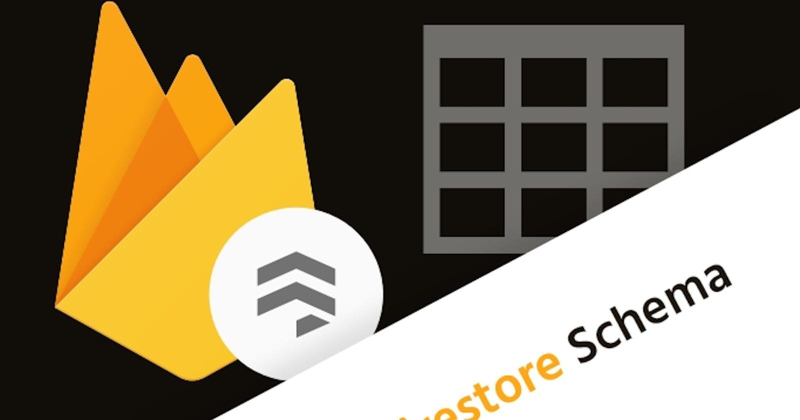 Creating a Schema for Firebase Cloud Firestore