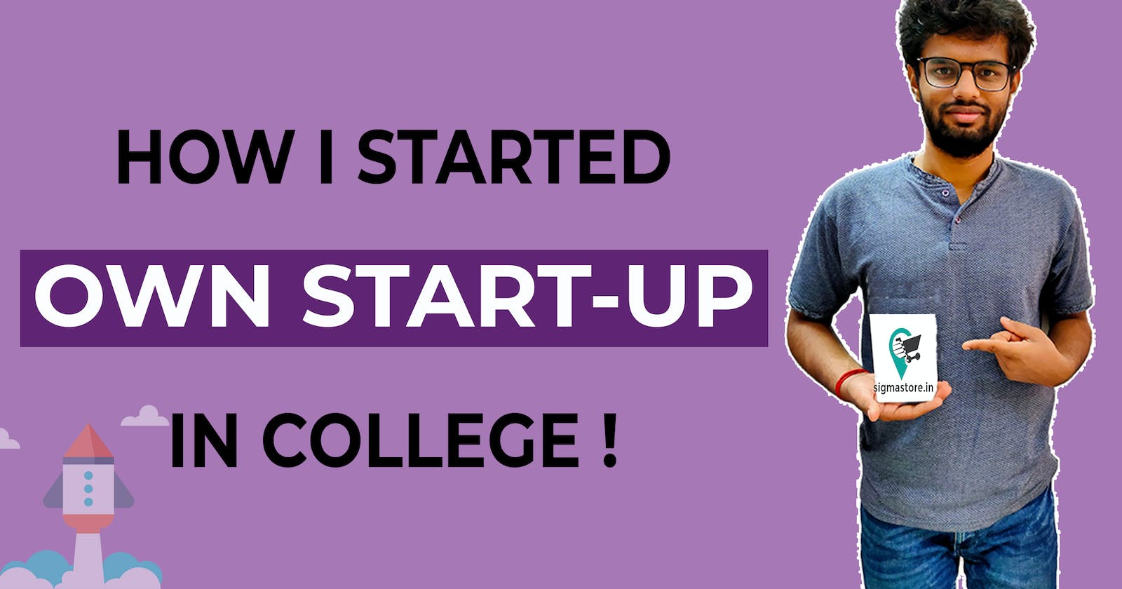 How I started my own start-up in my First year of college?