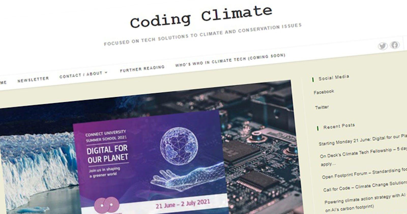 Growing a climate tech portal