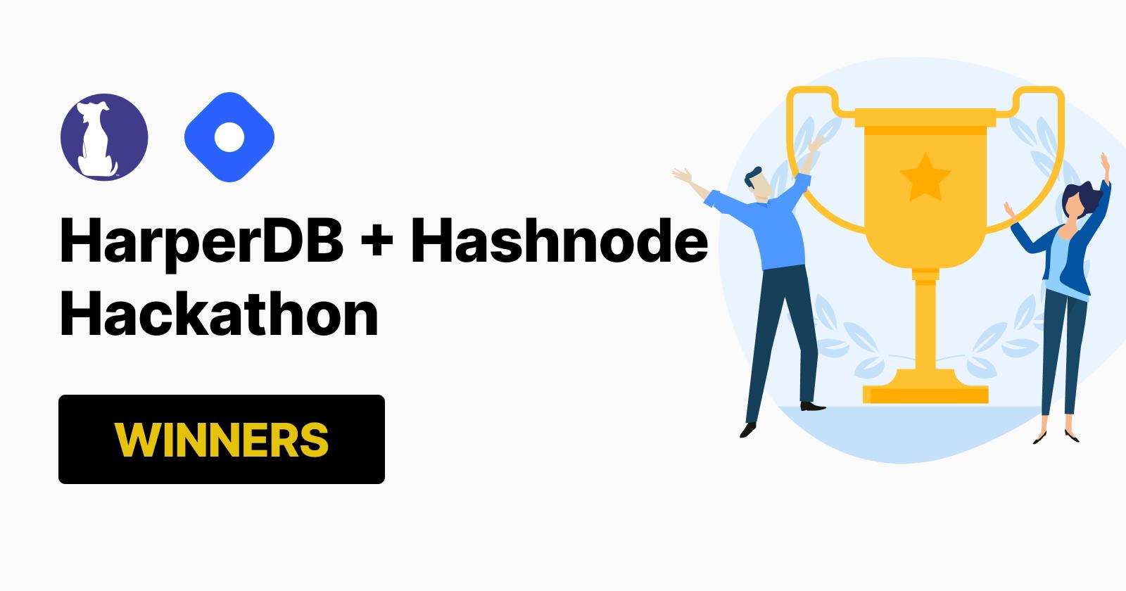 HarperDB + Hashnode Hackathon Winners!