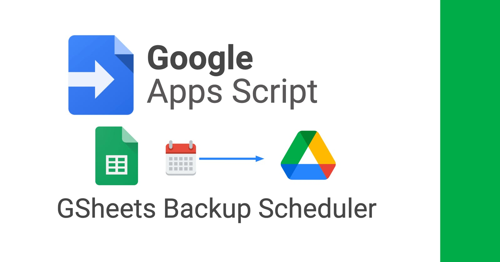 Creating a Scheduled Backup Service for Google Sheets using Apps Script.
