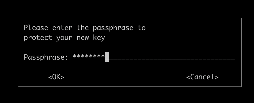 GPG protected by password flow