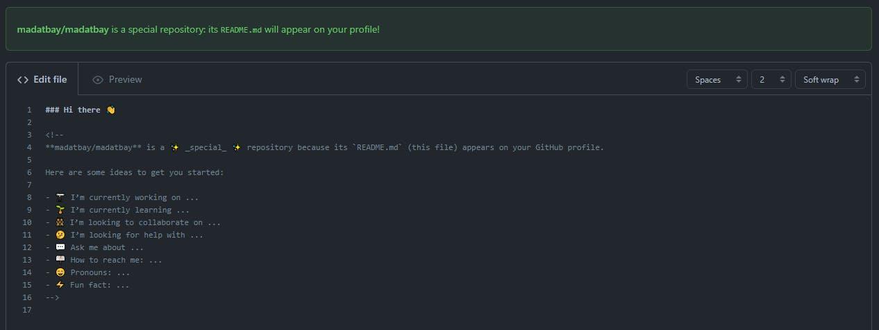 github profile starter template