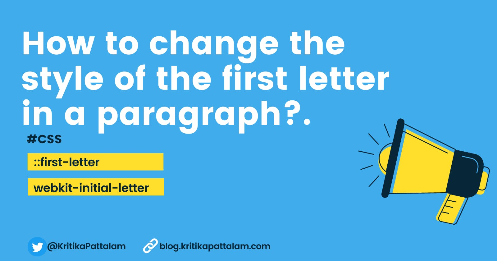 Drop CAP effect / Changing the style of the first letter in a paragraph using CSS.
