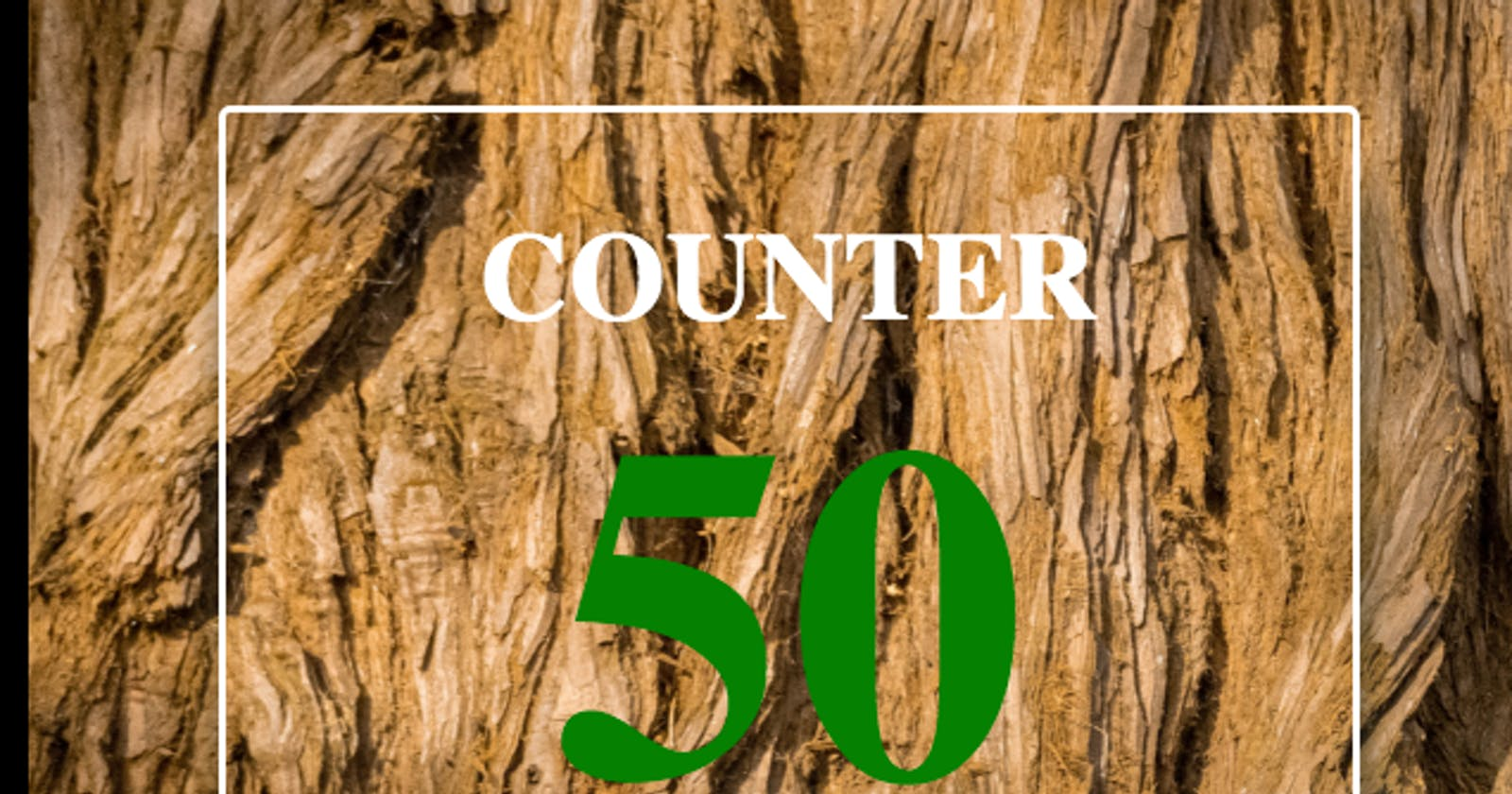 Let's count to 50 using JavaScript