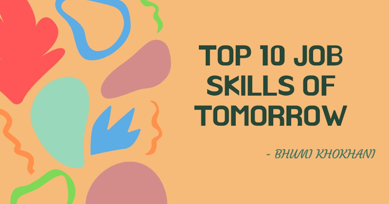 Top 10 job skills of Tomorrow