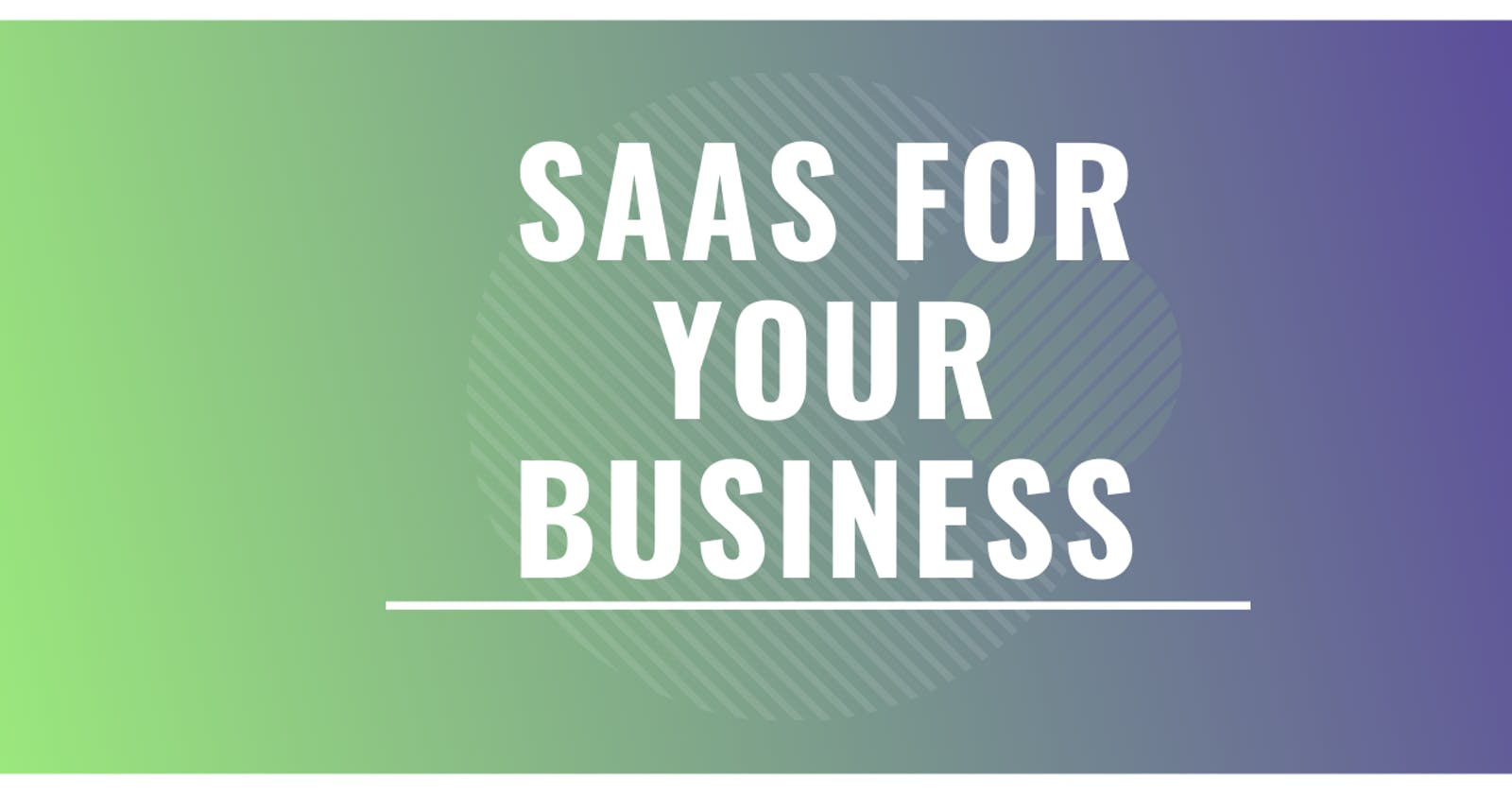 How to choose a SAAS provider