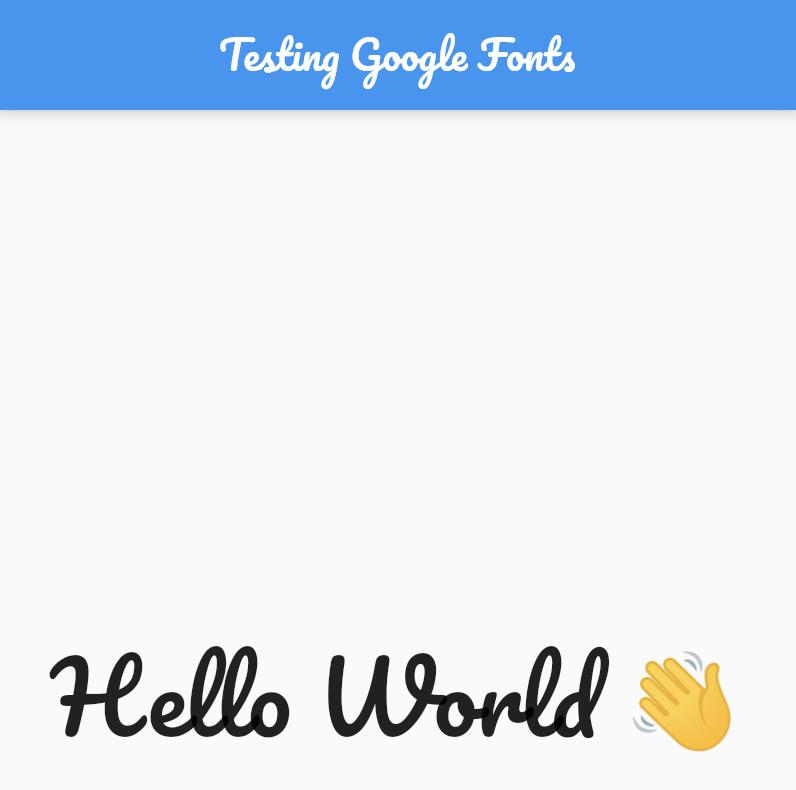 AppBar Google fonts