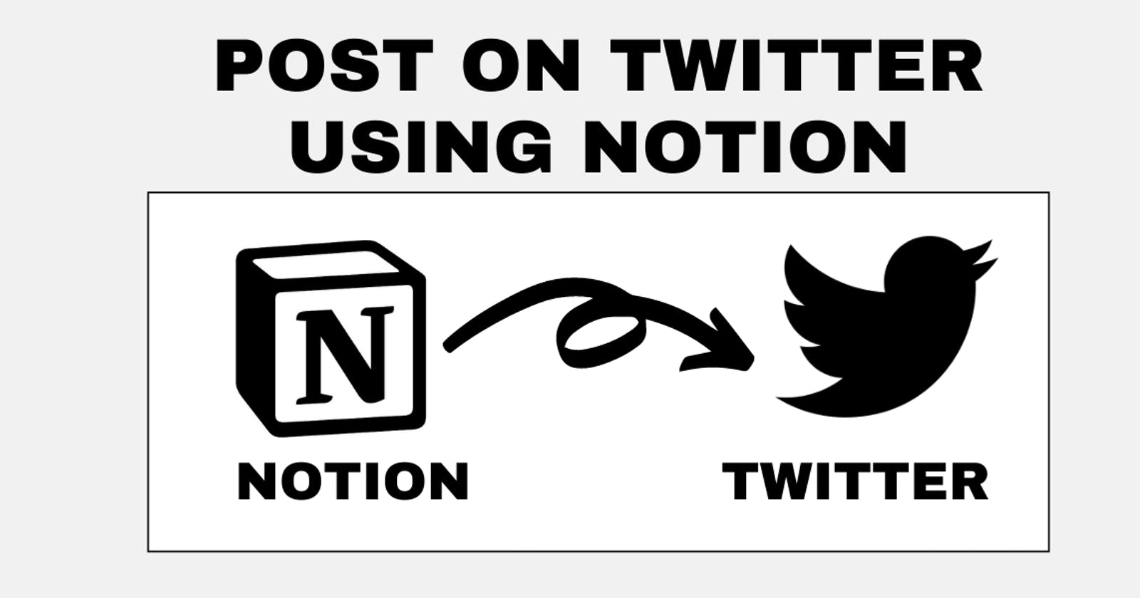 Post on Twitter using Notion