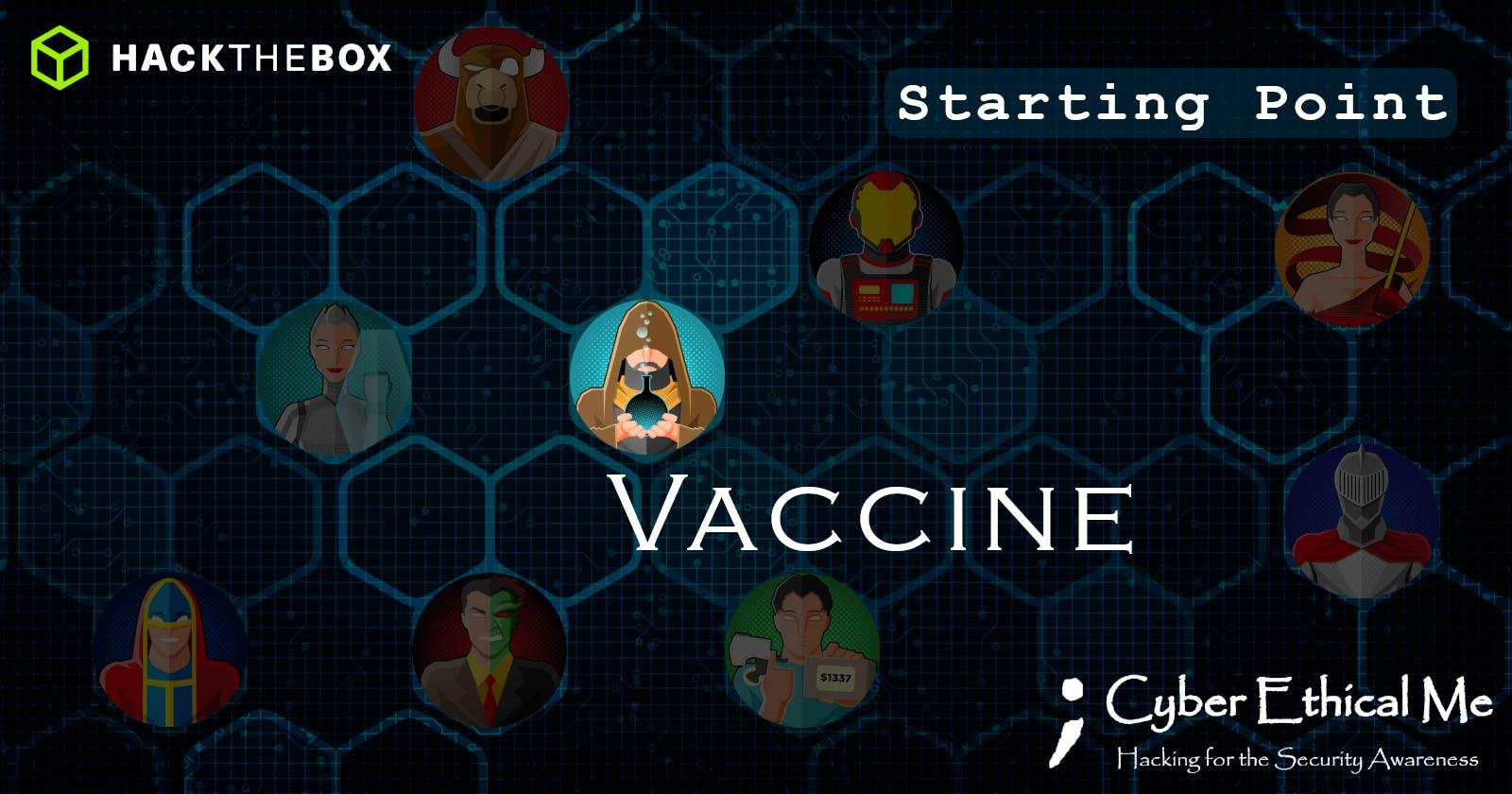 HTB Starting Point: Vaccine