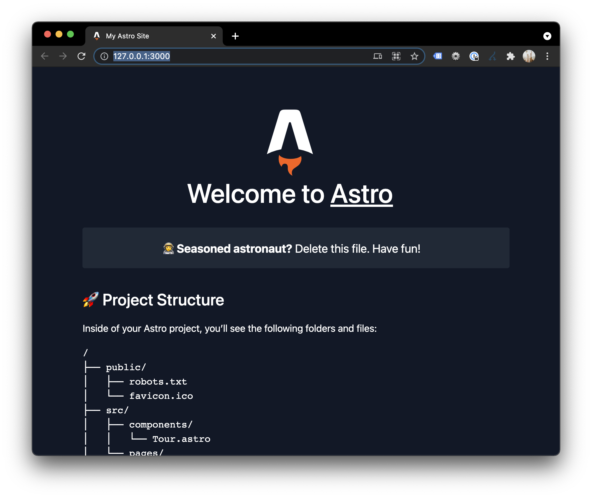 Astro first look