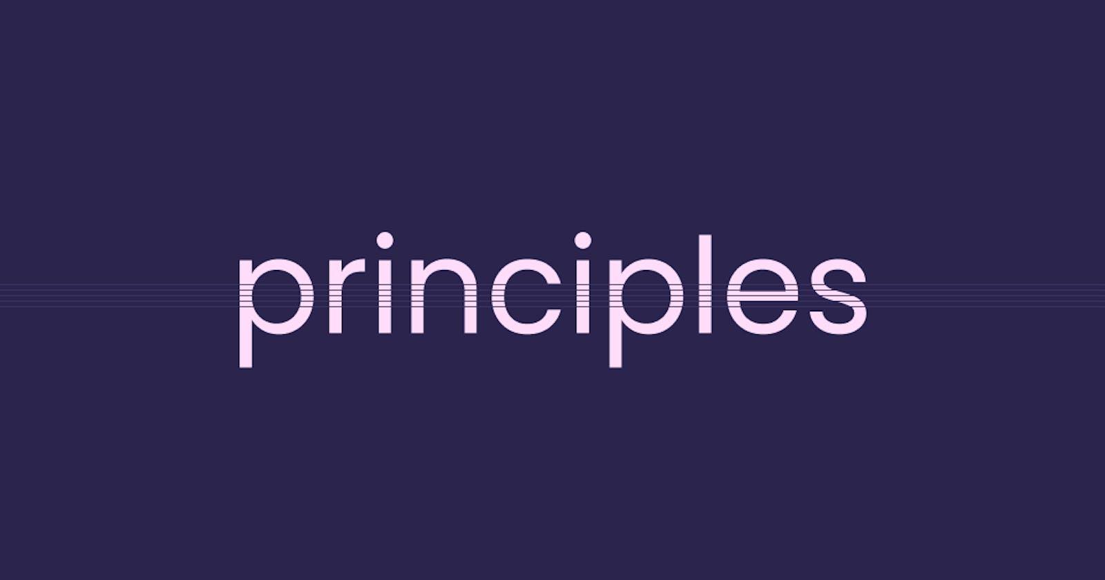 제품 원칙 수립하기