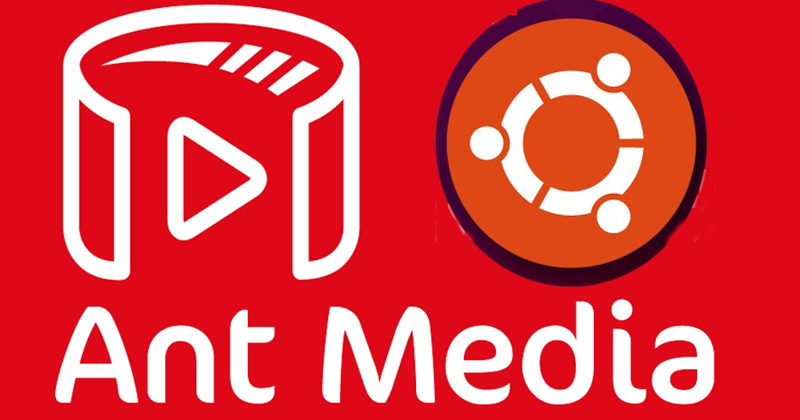 Install Ant Media server (CE) in on-premises