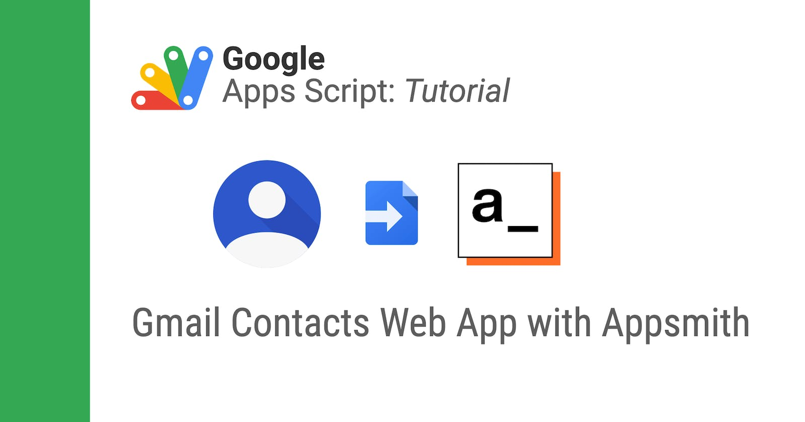 Adding Gmail Contacts to Appsmith using Apps Script
