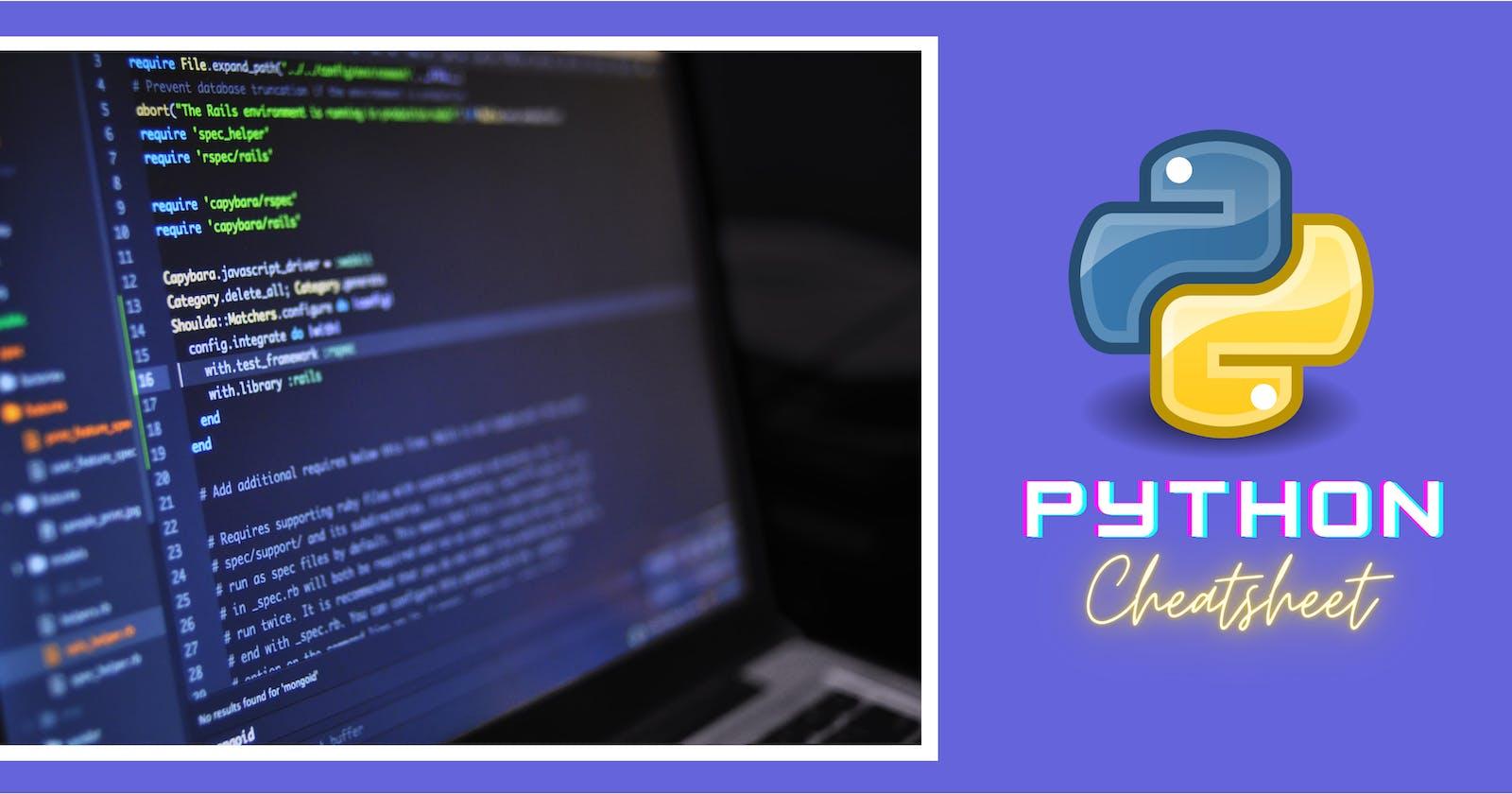 Python Cheatsheet 🔥