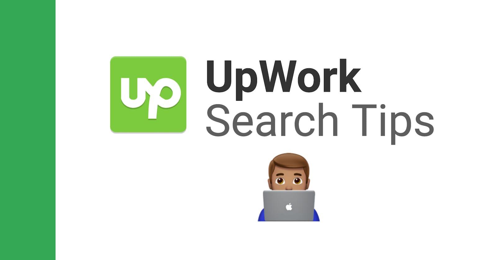 UpWork: Job Search Tips & Tricks