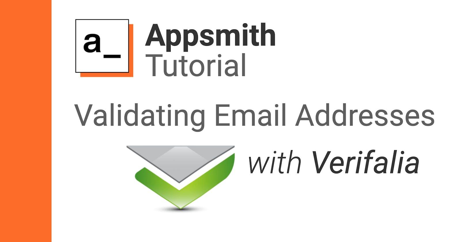 Validating Emails with Appsmith & the Verifalia API