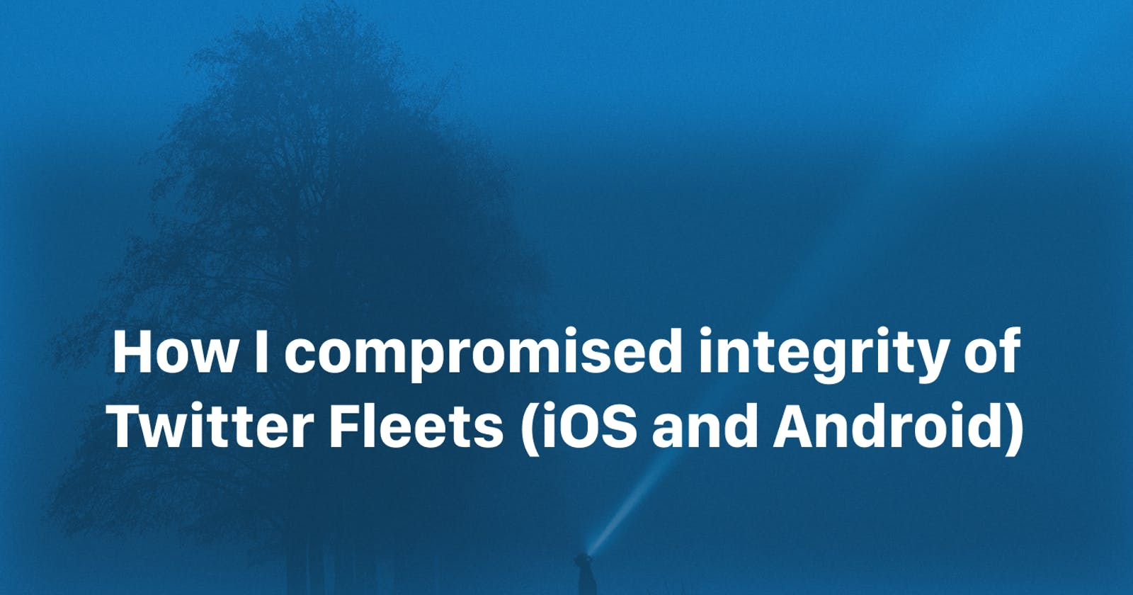 How I compromised integrity of Twitter Fleets (iOS and Android)