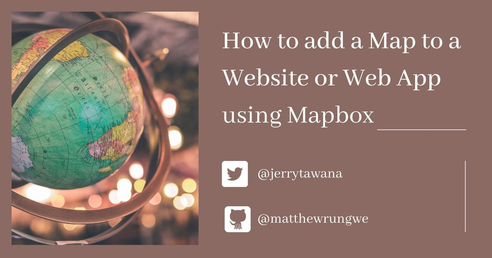 How to add a map to a Website or Web App using Mapbox