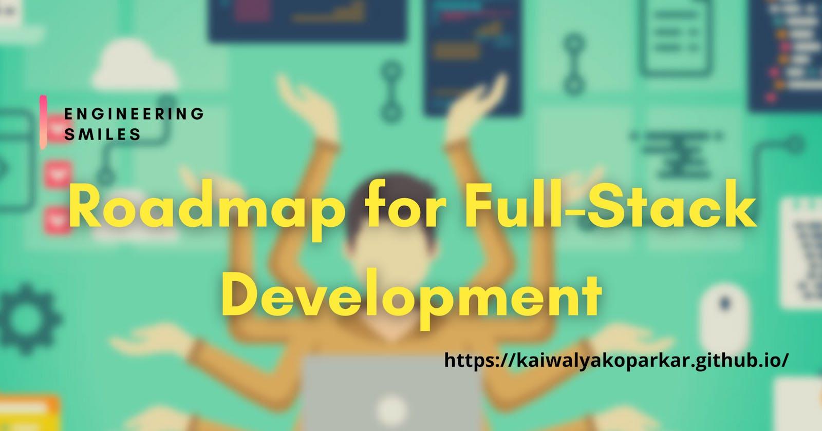 🌏 Roadmap to Full-Stack Development 🌏