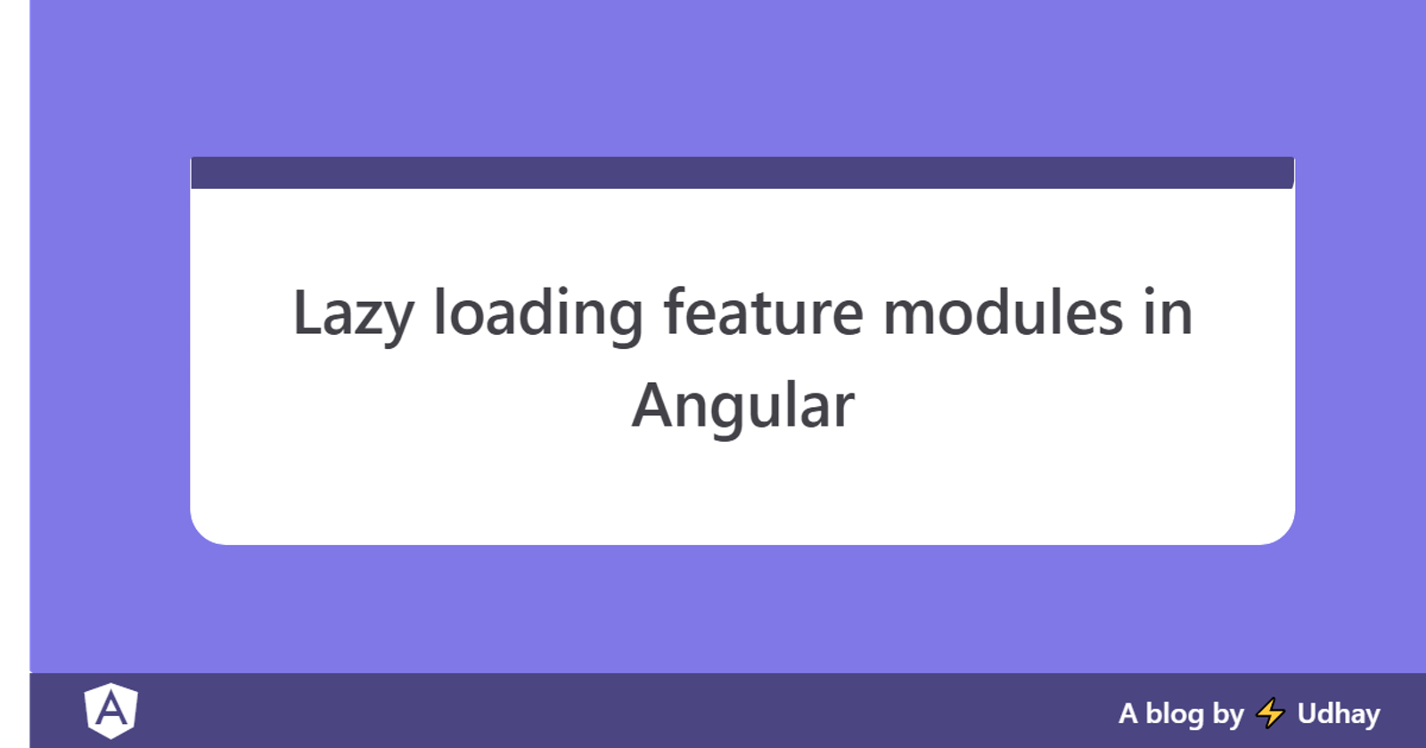 Lazy loading feature Modules in Angular