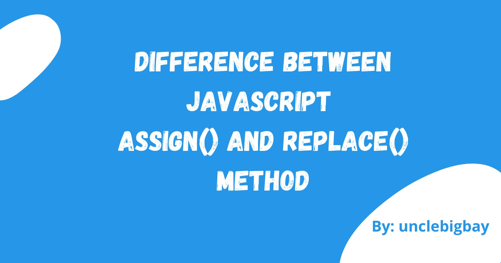 Difference Between JavaScript assign() and replace() method