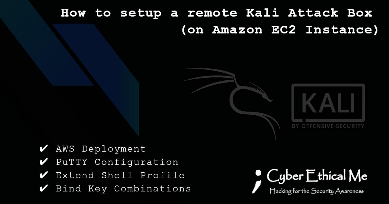 Kali Linux on Amazon EC2