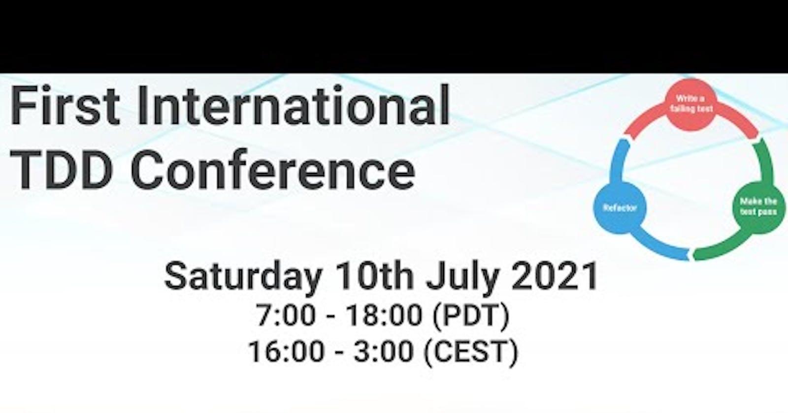 TDD Conference 2021 - Opening Ceremony by Alex Bunardzic