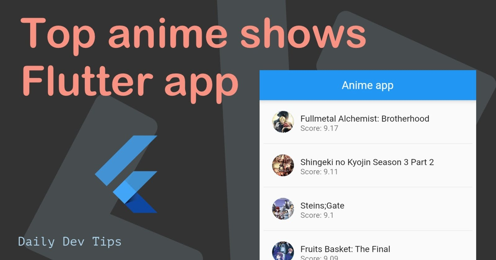 Top anime shows Flutter app