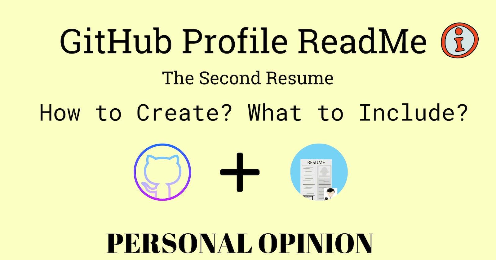 GitHub Profile ReadMe ✅